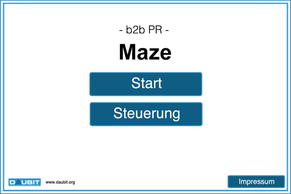 Screenshot b2b PR Maze